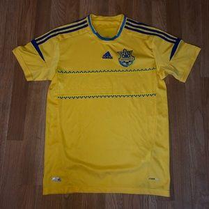 Adidas YKPAIHA Ukraine Yellow Soccer Jersey